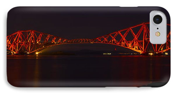 The Forth Bridge By Night IPhone Case by Ross G Strachan