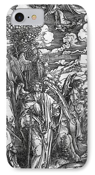 The Four Angels Holding The Winds IPhone Case by Albrecht Durer or Duerer