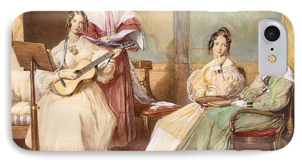 The Four Daughters Of Archbishop IPhone Case by George Richmond