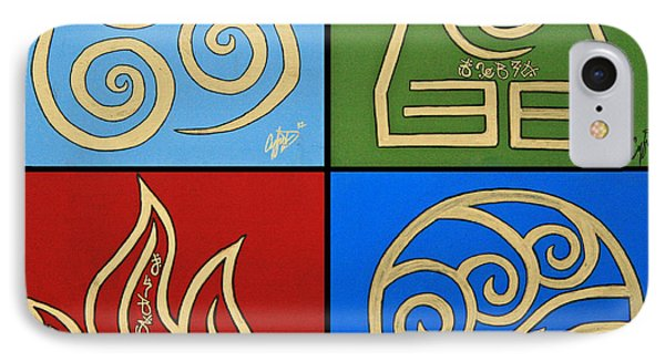 IPhone Case featuring the painting The Four Elements In Cy Lantyca by Cyryn Fyrcyd
