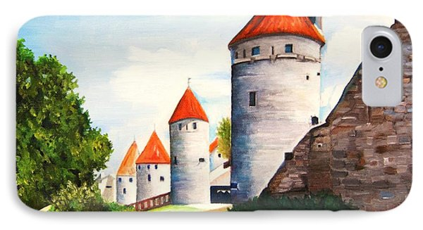 The Four Old Towers Estonia IPhone Case