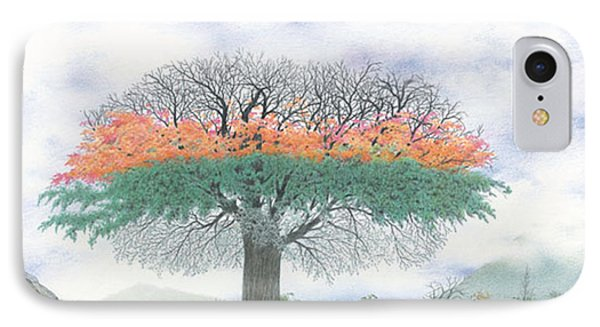 The Four Seasons Tree Phone Case by Wilfrid Barbier