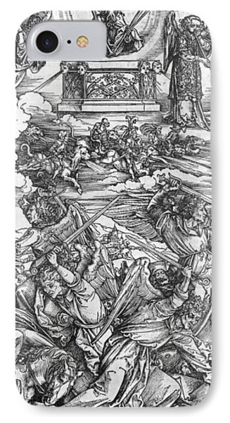 The Four Vengeful Angels IPhone Case by Albrecht Durer or Duerer