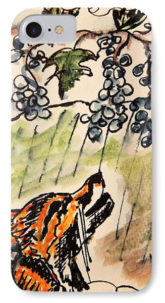The Fox And The Grapes IPhone Case