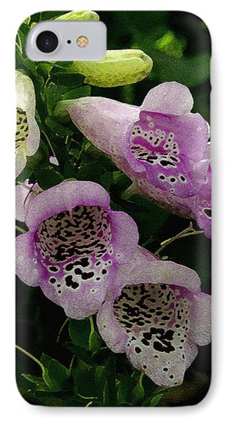 IPhone Case featuring the photograph The Foxglove by James C Thomas