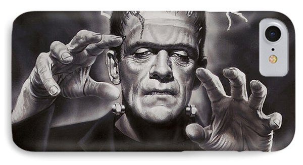 The Frankenstein Monster Phone Case by Dick Bobnick