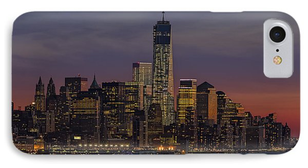 The Freedom Tower Dominates The Skyline IPhone Case by Susan Candelario