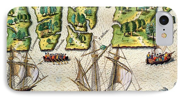 The French Discvoer Six More Rivers Phone Case by Jacques Le Moyne
