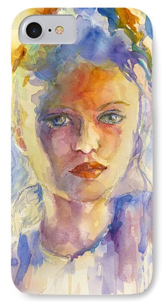 IPhone Case featuring the painting The French Girl by P Maure Bausch