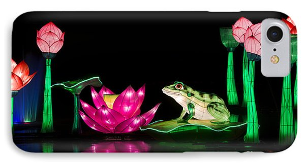 The Frog And Lotus IPhone Case by Tim Gainey