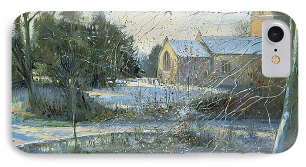The Frozen Moat, Bedfield  IPhone Case by Timothy Easton