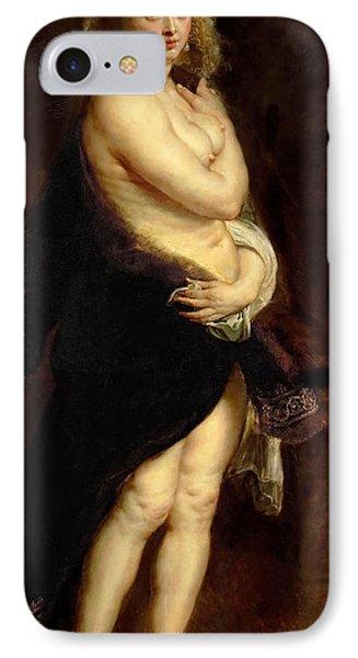 The Fur. Het Pelsken IPhone Case by Peter Paul Rubens