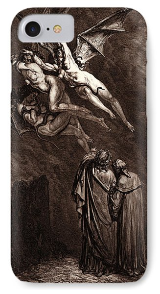 The Furies Before The Gates Of Dis IPhone Case by Litz Collection