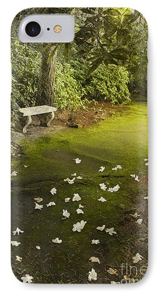 The Garden Bench IPhone Case by Carrie Cranwill