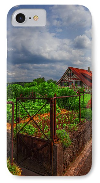 The Garden Gate Phone Case by Debra and Dave Vanderlaan