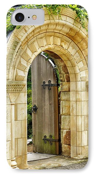 The Garden Gate IPhone Case by Jean Goodwin Brooks
