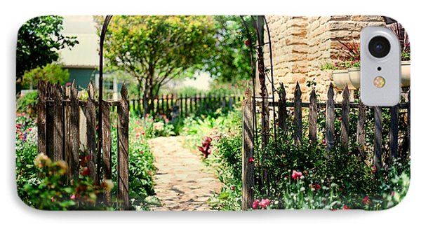 The Garden Gate IPhone Case by Linda Unger