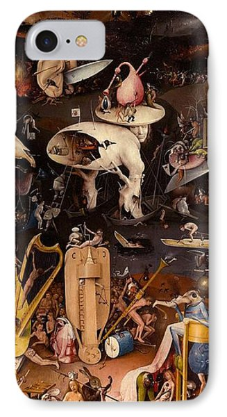 The Garden Of Earthly Delights - Right Wing IPhone Case by Hieronymus Bosch