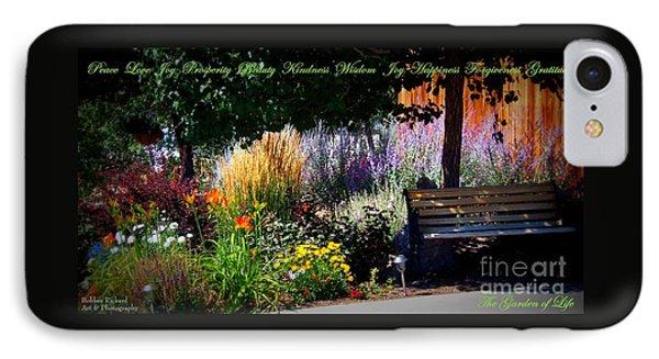 The Garden Of Life IPhone Case by Bobbee Rickard
