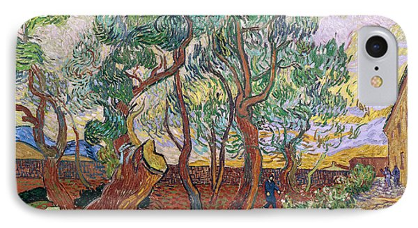 The Garden Of St Pauls Hospital At St. Remy Phone Case by Vincent Van Gogh