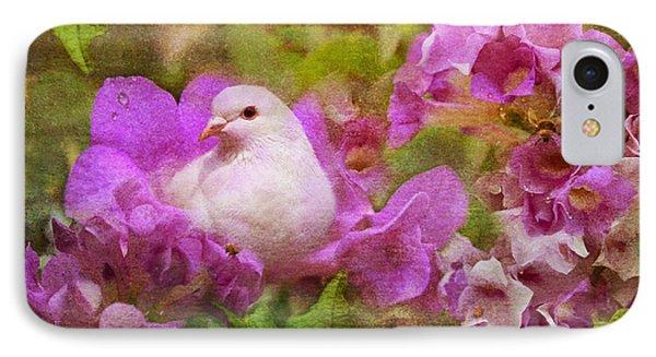 The Garden Of White Dove IPhone Case by Olga Hamilton