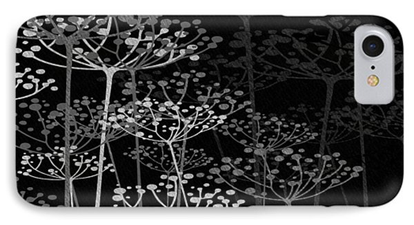 The Garden Of Your Mind Bw IPhone Case by Angelina Vick