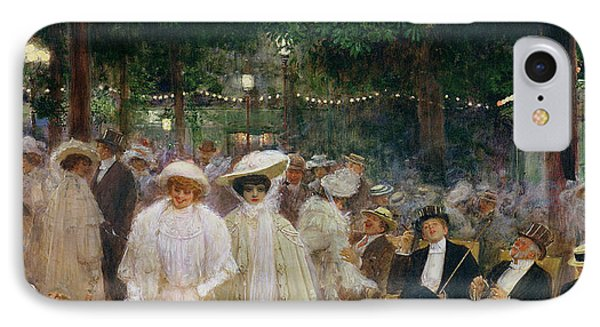 The Gardens Of Paris, Or The Beauties Of The Night, 1905 Oil On Canvas IPhone Case