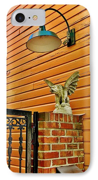 The Gargoyle At The Gate Phone Case by Jean Goodwin Brooks