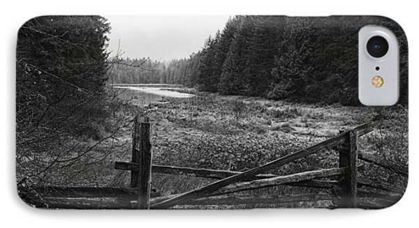 The Gate In Black And White Phone Case by Lawrence Christopher
