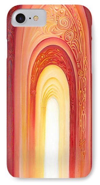 IPhone Case featuring the painting The Gate Of Light by Anna Ewa Miarczynska