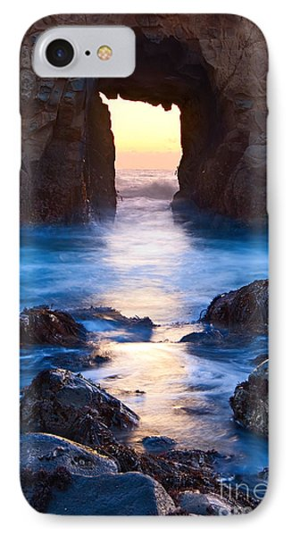 The Gateway - Sunset On Arch Rock In Pfeiffer Beach Big Sur In California. IPhone Case by Jamie Pham