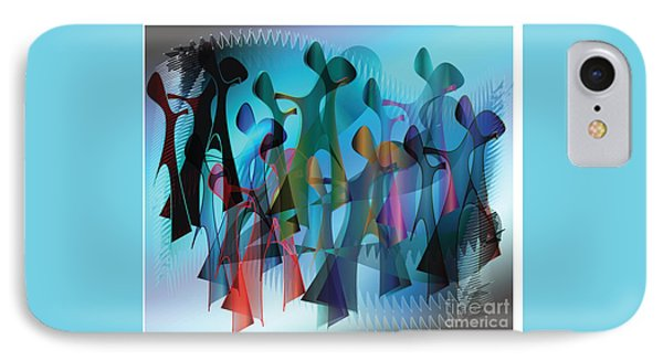 IPhone Case featuring the digital art The Gathering by Iris Gelbart