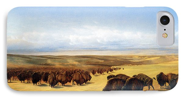The Gathering Of The Herds IPhone Case by William Jacob Hays