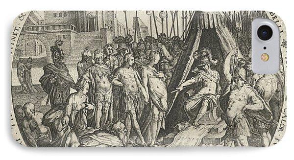 The Generosity Of Scipio, Zacharias Dolendo IPhone Case by Zacharias Dolendo And Hendrick Hondius (i)