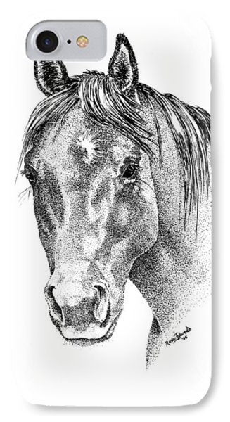 The Gentle Eye Horse Head Study Phone Case by Renee Forth-Fukumoto