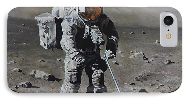 The Geologist- Harrison Schmitt. Apollo 17 Phone Case by Simon Kregar
