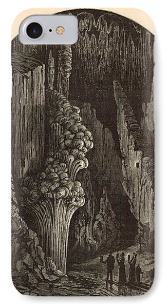 The Geyser 1872 Engraving IPhone Case by Antique Engravings
