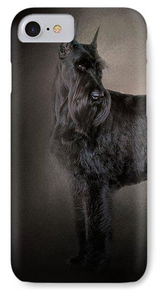 The Giant Black Schnauzer IPhone Case by Jai Johnson