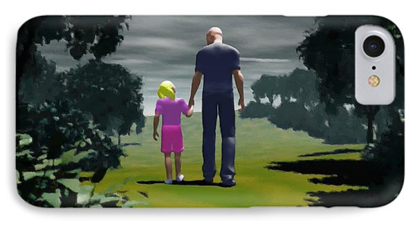 The Gift Of Being 'daddy' IPhone Case by John Alexander