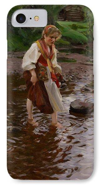 The Girl From Alvdalen Phone Case by Anders Leonard Zorn