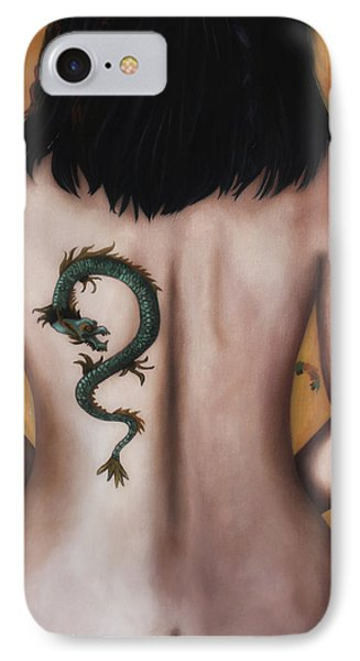 The Girl With The Dragon Tattoo Edit 4 IPhone Case by Leah Saulnier The Painting Maniac