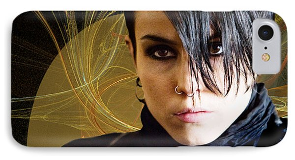 The Girl With The Dragon Tattoo Phone Case by Sylvia Thornton