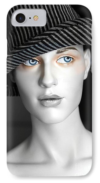 The Girl With The Fedora Hat Phone Case by Sophie Vigneault
