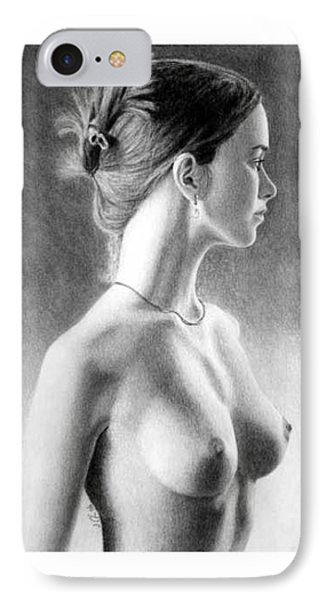 The Girl With The Glass Earring IPhone Case by Joseph Ogle