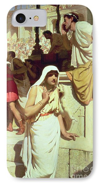 The Gladiators Wife IPhone Case by Edmund Blair Leighton