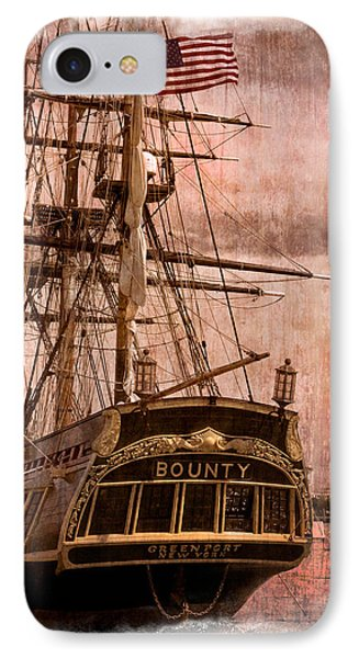 The Gleaming Hull Of The Hms Bounty Phone Case by Debra and Dave Vanderlaan