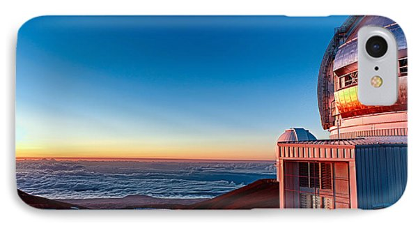 IPhone Case featuring the photograph The Glow Of The Warm Sunset Reflecting Off Of The Gemini 8.1m Op by Jim Thompson