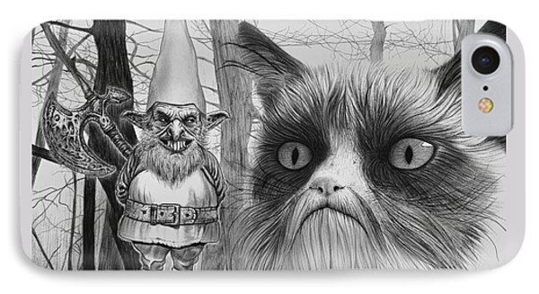The Gnome And The Cat IPhone Case by Wave