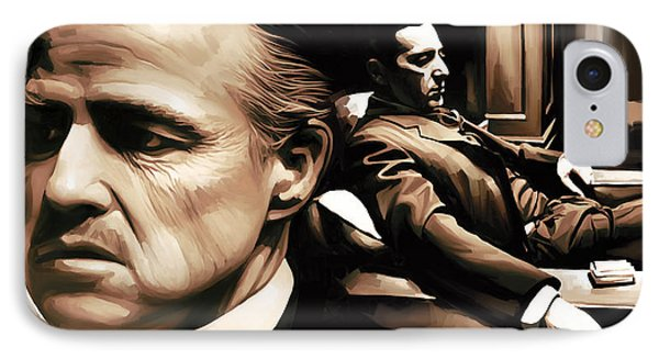 The Godfather Artwork IPhone Case by Sheraz A