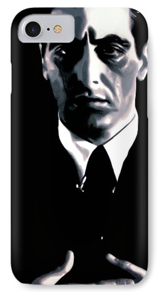 The Godfather IPhone Case by Luis Ludzska
